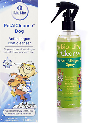 DUO Bio-Life PetalCleanse DOG Solution & AirCleanse Anti Allergy Spray + Samples