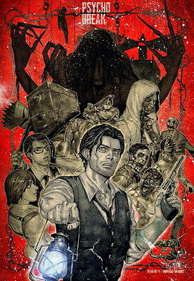 """001 The Evil Within - Ghost Survival Horror Shooting Game 14""""x20"""" Poster"""