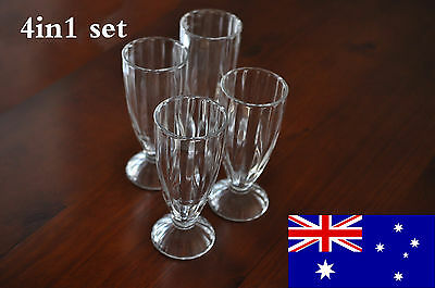 New 4in1 set Classic Juice Glass 360ml Milkshake Tall Glasses Smoothies Soda