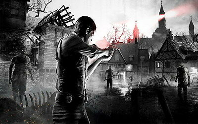 """014 The Evil Within - Ghost Survival Horror Shooting Game 38""""x24"""" Poster"""