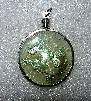 ancient roman glass fragment with very lovely patina pendant..