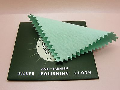 2 x Jewellery Anti Tarnish POLISH CLEANING CLOTH for Silver Gold ~8CM or 7x10CM~
