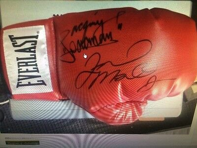 Floyd Mayweather JR  V Manny Pacquiao Hand Signed Boxing Glove