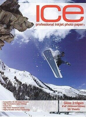 ICE Gloss Photo Paper, 210gsm 8 x 6 - 50 Sheets