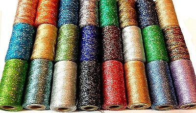 25 Metallic Multi Embroidery Spools 24 Assorted Colours 400 Yards New Collection