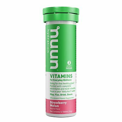 Nuun Vitamins: Strawberry Melon Daily Hydration Supplement (Tube of 12 Tabs)