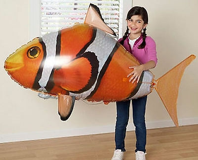 KETNET Remote Control Inflatable Balloon Air Swimmer Flying Nemo Shark Blimp*Toy