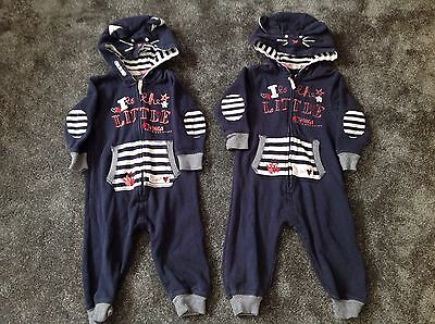 TWINS - NEXT GIRLS All In One Suits 12-18 Months