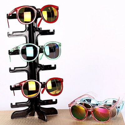 6Pair Sunglasses Eyeglass Glasses Frame Rack Display Stand Organizer Show Holder