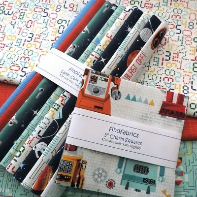 "Makower Galaxy ~ Quilt Fabrics 5"" Charm Pack ~ 10"" Layer Cake Squares"