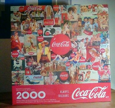 """Coca Cola Puzzle~Always TouJours 2000 Pieces~34"""" x 42 1/2"""" FACTORY SEALED!!"""