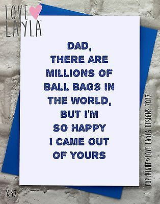 Father's Day Cards / New / Comedy / Funny / Humour / Love Layla / Father's / X37