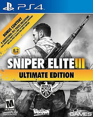 Sniper Elite III: Ultimate Edition - 9 DLC Packs Shooter 1942 Africa PS4 NEW