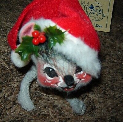 ANNALEE '92 Dolls Christmas MOUSE #7744 Tag Attached