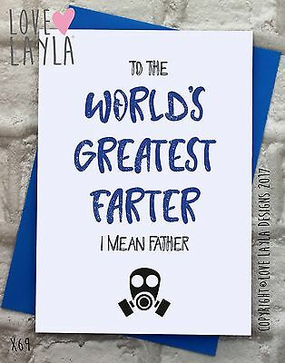 Father's Day Cards / New / Comedy / Funny / Humour / Love Layla / Father's / X69
