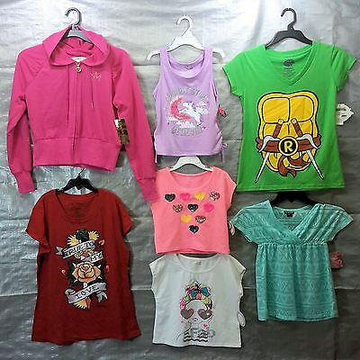 Wholesale Lot Assorted Brand New Children's GIRL Clothing 50 Tops FREE SHIP