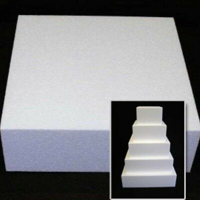 Square Cake Dummy – 5″ Deep multiple diameters available
