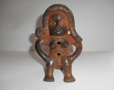 Pre Columbian Seated Woman Figure