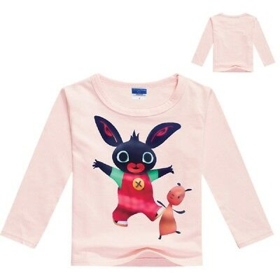 BING BUNNY Kids Long-Sleeved T-Shirt in 6 Colour Choices NWT -  2-3 & 3-4 YEARS