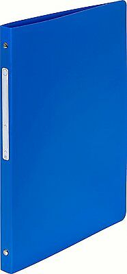 A4 Blue 4 Ring Binder Slim Thin 15mm Lightweight Strong