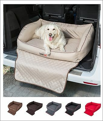 Dog Bed Bolstered Couch Car Boot Trunk Liner and Bumper Protector Thick Mattress