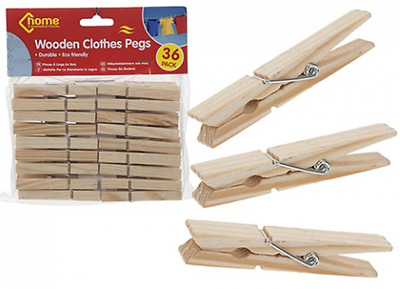 Wooden clothes pegs for washing line wood peg gardens airer dry from 4p per peg
