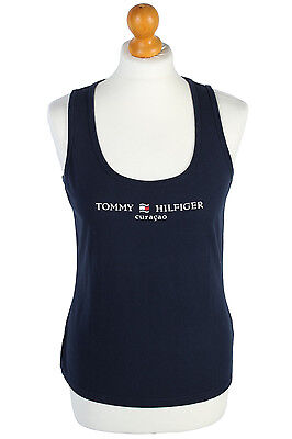 Vintage Tommy Hilfiger Sports Vest Casual Denim Retro Geniune  Navy XS,S TS031