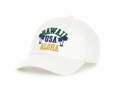 '47 Brand Relaxed Fit Aloha Baseball Style Cap Hat  Hawaii USA  White  OSFM