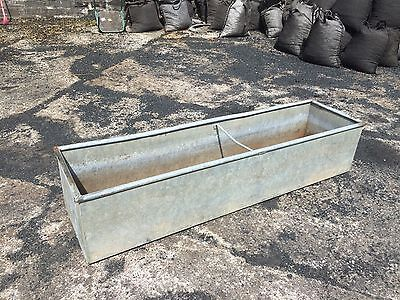 6ft Galvanised Trough Planter Vintage Water Tank