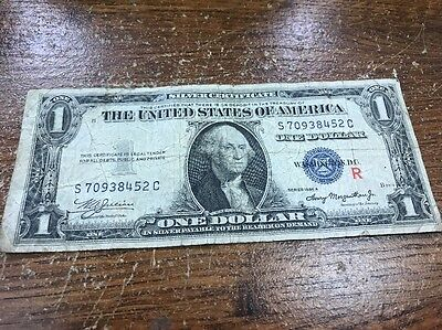 """(EXPERIMENTAL) 1935 A $1 Silver Certificate Note with Red """"R"""" Surcharge"""