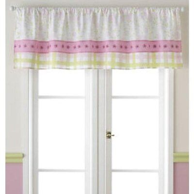 Laura Ashley Love Window Valance Girl's Nursery Pink Green White Floral Gingham