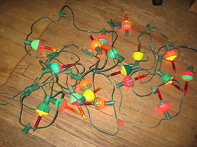 Vintage Set OF 16 NOMA BUBBLE LITES Christmas Lights for parts only!
