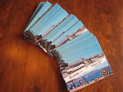 Lot of 95 Old Postcards UNCIRCULATED 1954 Cadillac 1956 Chevy Salton Sea CA