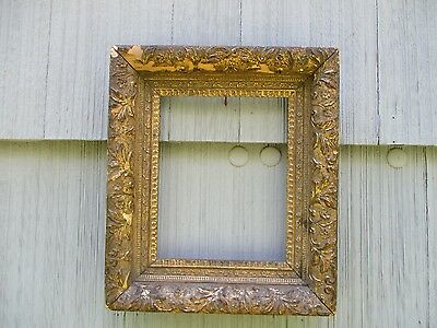 Antique Gilt Finish Deep Picture Frame fits 8 x 10