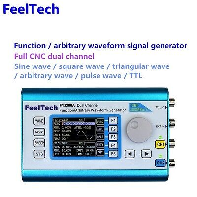 DDS Function 2-25MHz Signal Generator Sweep Frequency Meter CNC Dual-CH FeelTech