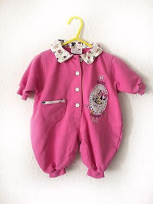 Vintage Girls Baby 80s 90s Minnie Mouse Disney Playsuit Romper 0-3 M