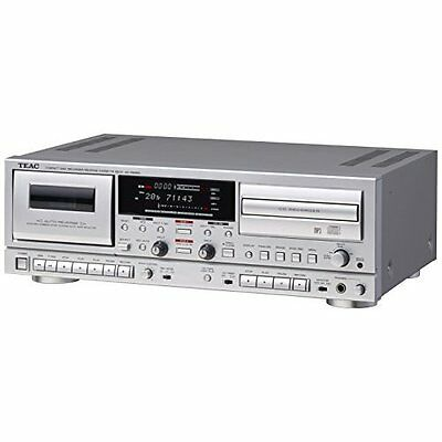 TEAC CD recorder Cassette Deck AD-RW950-S Silver Fast Shipping Japan New