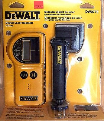 New DeWALT DW0772 Digital Laser Detector and Clamp Tool