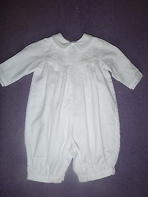 Beautiful pure white Sarah Louise Romper 0-3 months