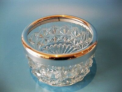 Beautiful Vintage Silver Plate & Cut Crystal Wine Bottle / Champagne Coaster
