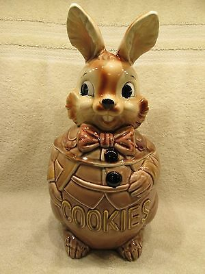 Royal Sealy Cookie Jar. Brown Bunny. Great Condition.
