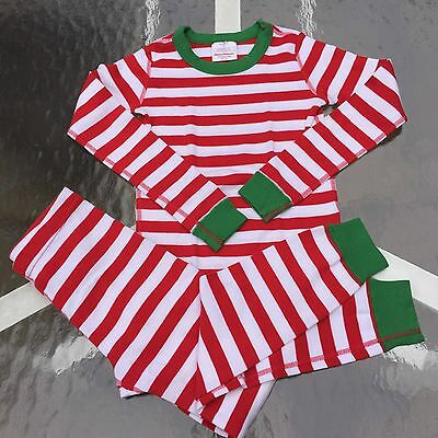 HANNA ANDERSSON Boy's-Girl's Striped Cotton Pajamas Long Johns Set 130 NEW, WOW!