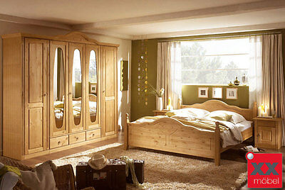 landhausstil schlafzimmer komplett weiss wales romantik kiefer stil t25 eur. Black Bedroom Furniture Sets. Home Design Ideas