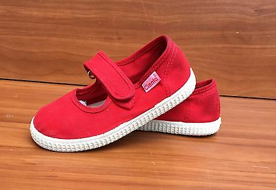 CIENTA Red Canvas Mary Janes Sneakers Casual Girls Shoes - 10 (27)
