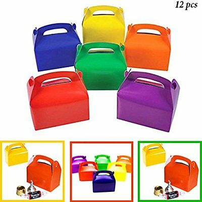 Rainbow Treat Boxes Birthday Party Favors Assorted Paper Box Supplies BULK