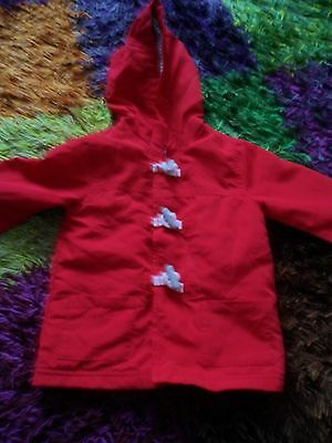 Baby Boy Light Summer Jacket - Hooded - 9-12 Months - George - Red