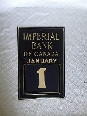 Imperial Bank Of Canada Perpetual Calendar With All Cards