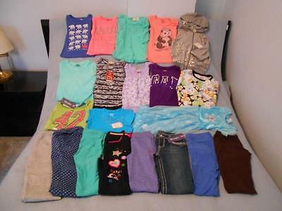21 Pc Mixed Lot Girls Size 6-6X Used Fall & Winter Clothing (9 are new)