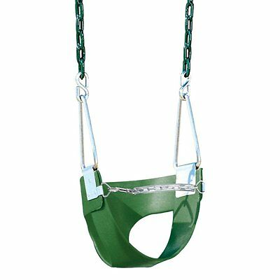 Playtime Swing Sets Half Bucket Swing - Green, Chain