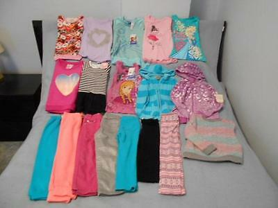 18 Pc Mixed Lot Girls Size 5-5T Used Fall & Winter Clothing (9 are nwt)